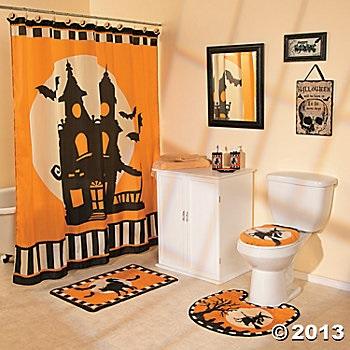 halloween bathroom decor sets http www amazon com halloween night