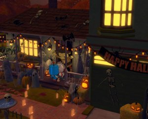 The visuals capture the perfect Halloween night atmosphere!