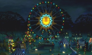 Take a trip to a Halloween night carnival!