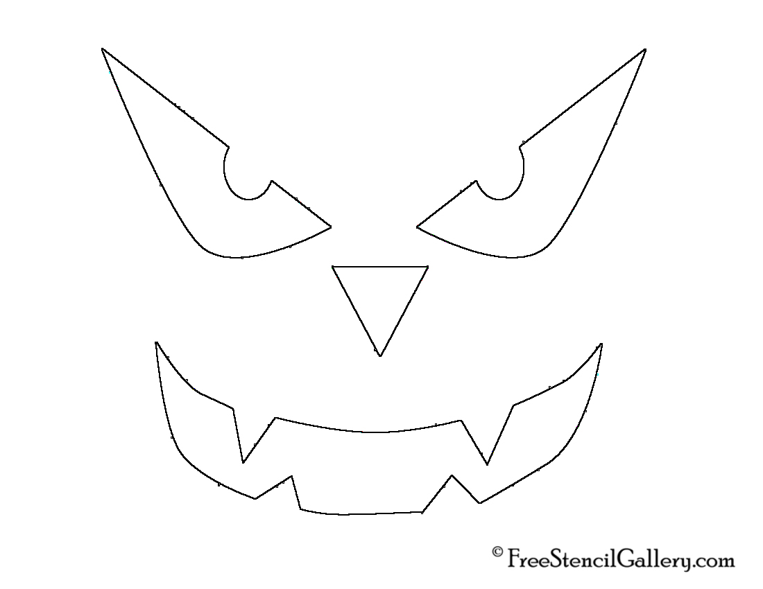 This is a graphic of Effortless Jack O Lantern Stencil Printable