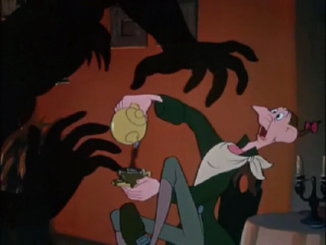 The easily frightened Ichabod Crane