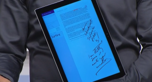 Write directly on the screen. Send edits and comments in your own handwriting!